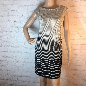 ANN TAYLOR LOFT STRIPED PETITE DRESS